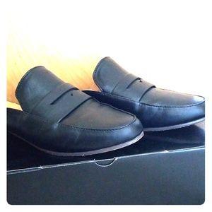 Black Jcrew loafer slides 6